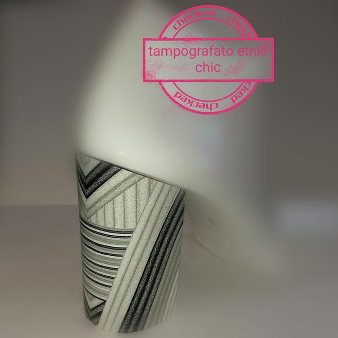 verniciatura tacchi tampografato etnic chic